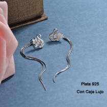 Aretes de Plata 925 Puro para Mujer -PLEGG190-24181