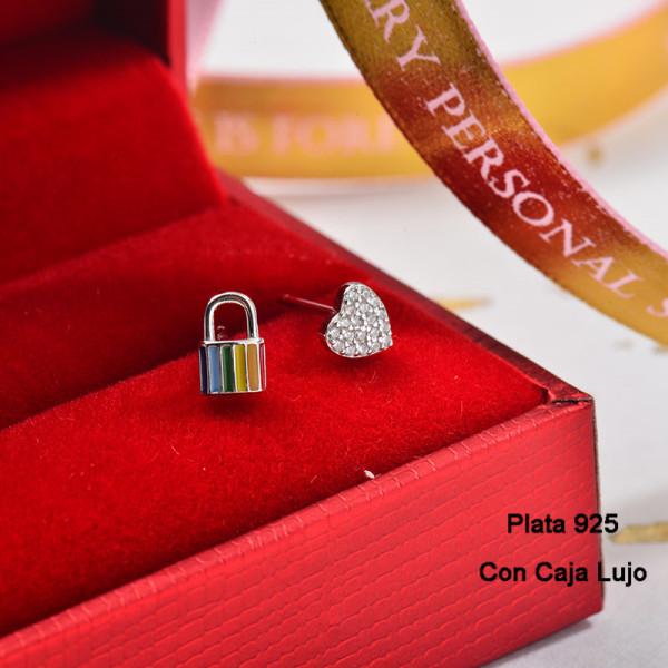Aretes de Plata 925 Puro para Mujer -PLEGG190-24164