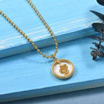 Collares de Laton con cadena de acero -SSNEG142-23967