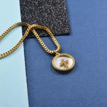 Collares de Laton con cadena de acero -SSNEG142-23957