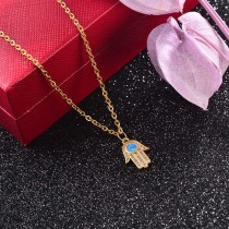 Collar de Laton con cadena de acero -SSNEG142-23749