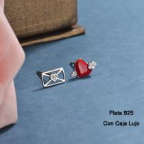 Aretes de Plata 925 Puro para Mujer -PLEGG190-24185