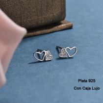 Aretes de Plata 925 Puro para Mujer -PLEGG190-24166