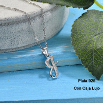 Collares de Plata 925 Puro para Mujer -PLNEG190-24213