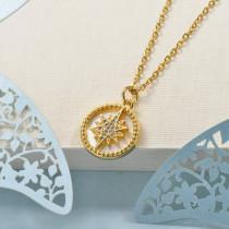 Collares de Laton con cadena de acero -BRNEG158-24052