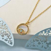 Collares de Laton con cadena de acero -BRNEG158-24044