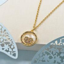 Collares de Laton con cadena de acero -BRNEG158-24054