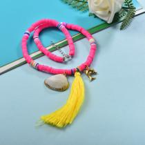 Collares de Estilo bohemio con Charms Acero -SSNEG143-23999