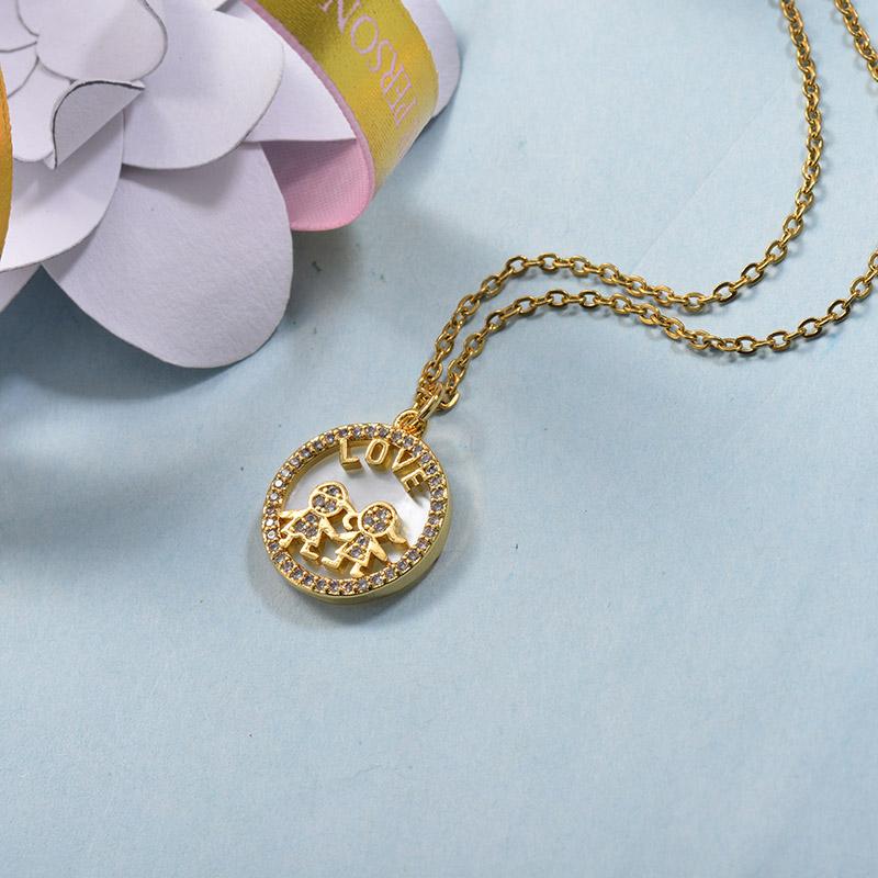 Collares de Laton con cadena de acero -BRNEG158-24069