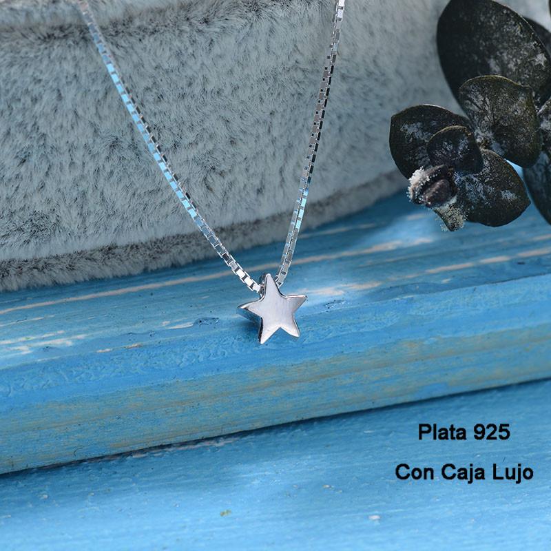 Collares de Plata 925 Puro para Mujer -PLNEG190-24244