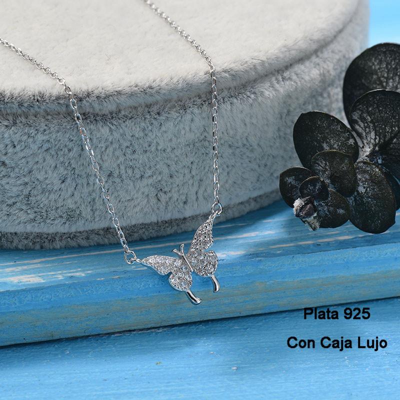 Collares de Plata 925 Puro para Mujer -PLNEG190-24247