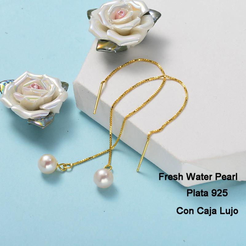 Aretes de Plata 925 Puro para Mujer -PLEGG191-24264