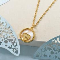 Collares de Laton con cadena de acero -BRNEG158-24047