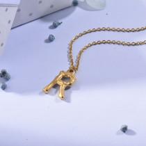 Collares de Inicial Letra en Acero Inoxidable -SSNEG143-24681