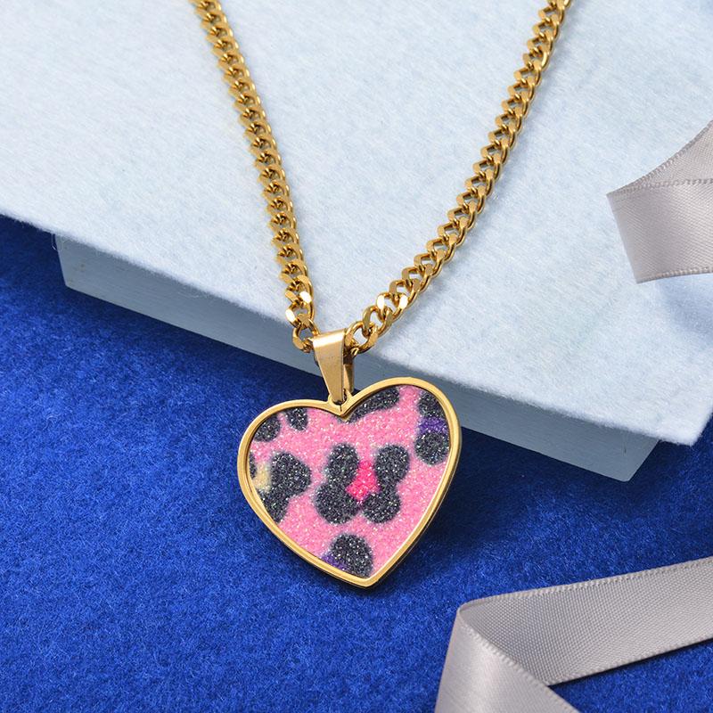 Collares Grueso de Cuero en acero Inoxidable para Mujer -SSNEG142-25266