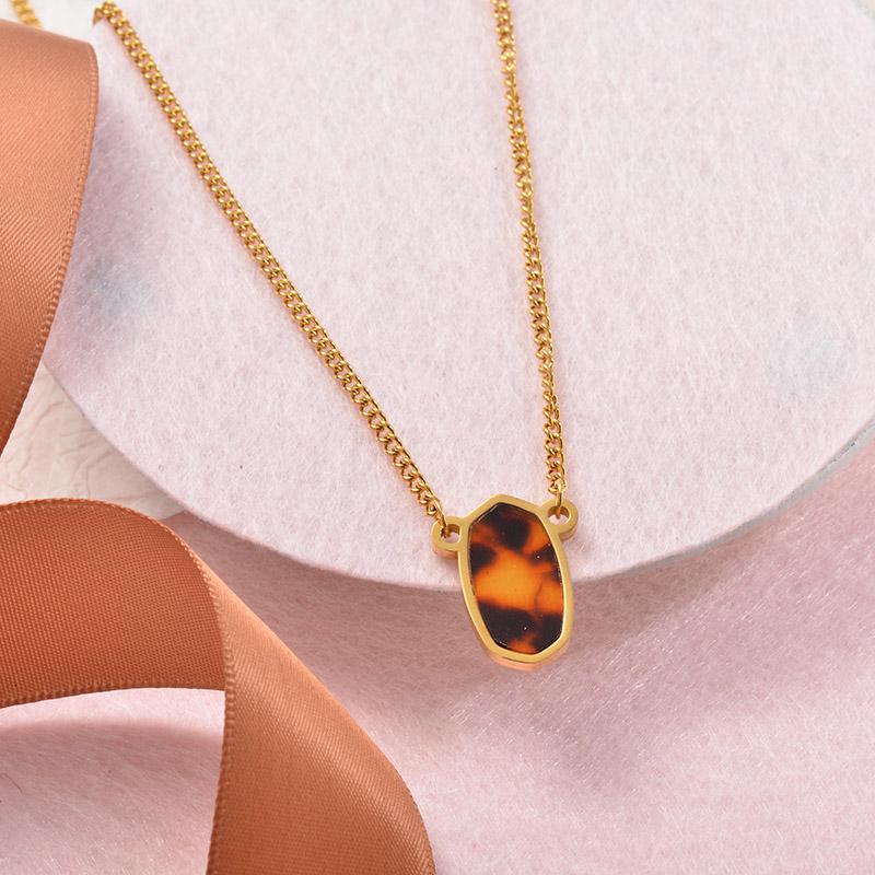 Collares Grueso de Leopardo en acero Inoxidable para Mujer -SSNEG142-25258