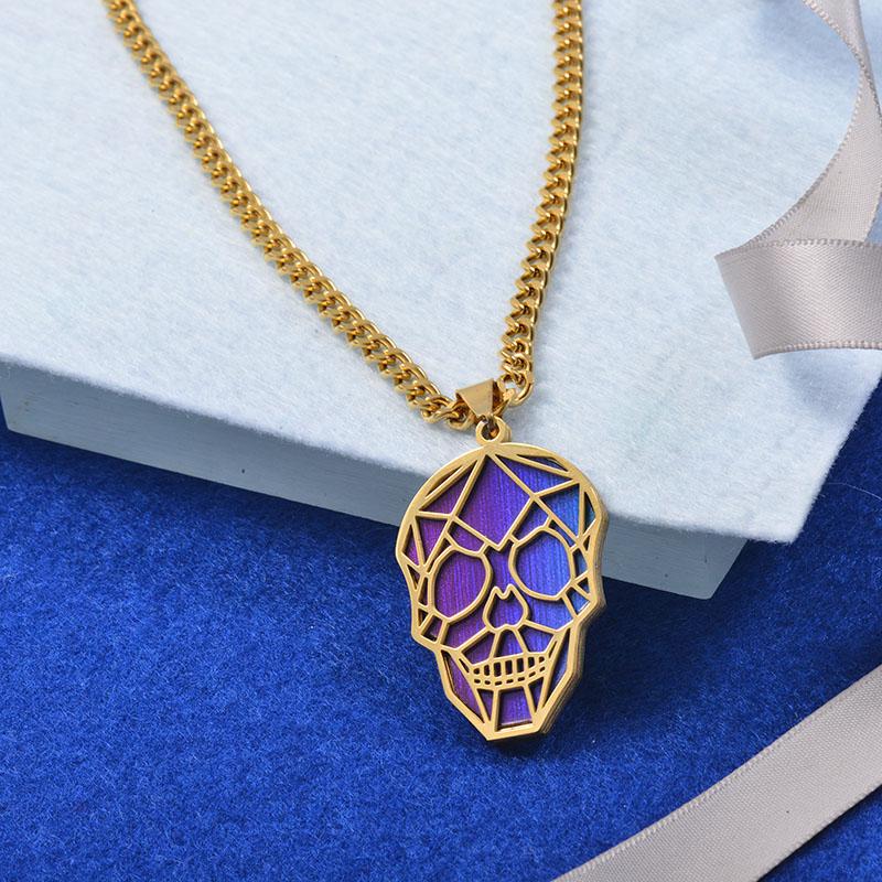 Collares Grueso de Cuero en acero Inoxidable para Mujer -SSNEG142-25263