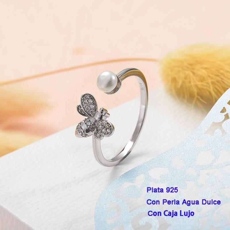 Anillos de Plata 925 con perla agua dulce -PLRGG191-25422