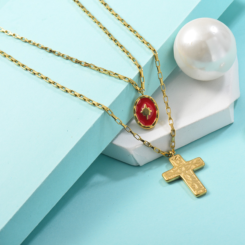 Collares de Acero Inoxidable para Mujer -SSNEG142-25456