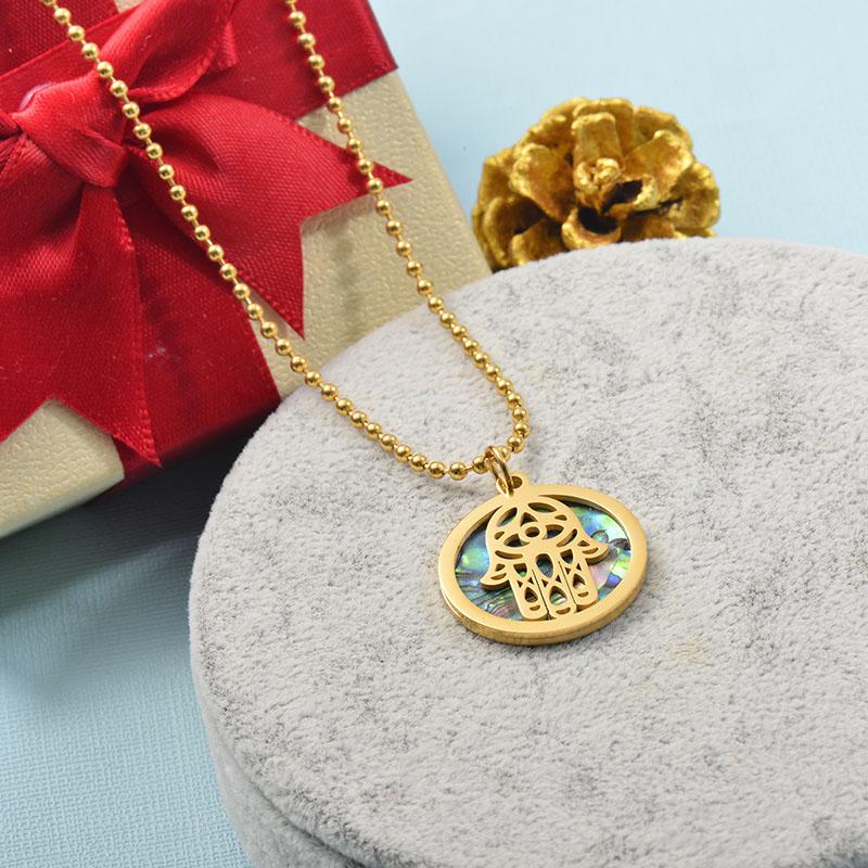 Collares de Acero Inoxidable para Mujer -SSNEG142-25522