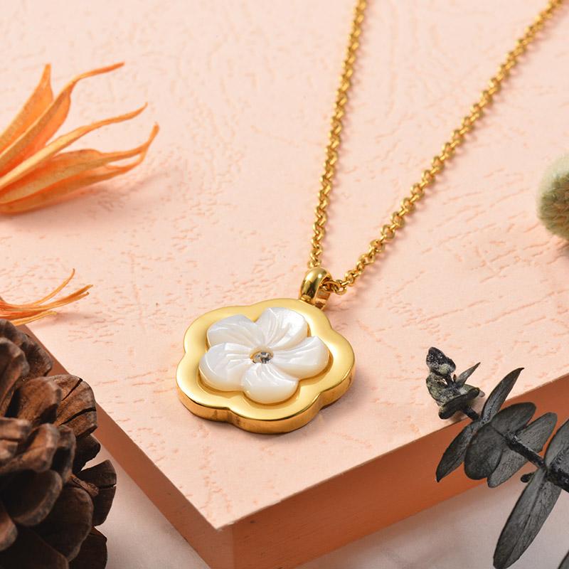Collares de Acero Inoxidable para Mujer -SSNEG129-25387