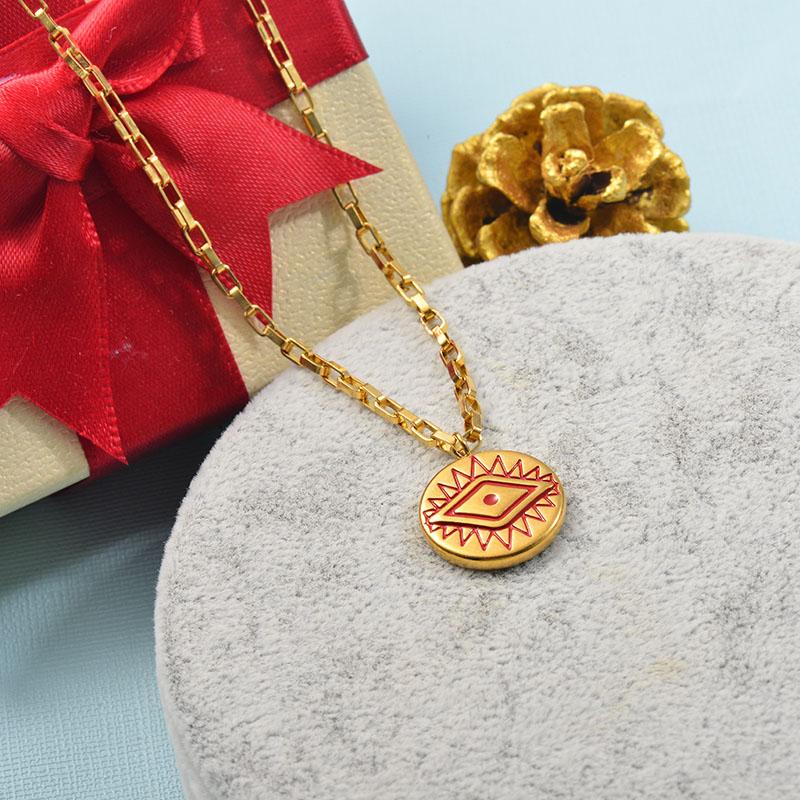 Collares de Acero Inoxidable para Mujer -SSNEG142-25521