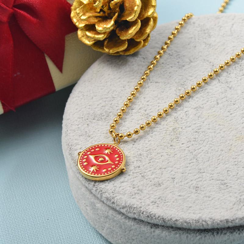 Collares de Acero Inoxidable para Mujer -SSNEG142-25510