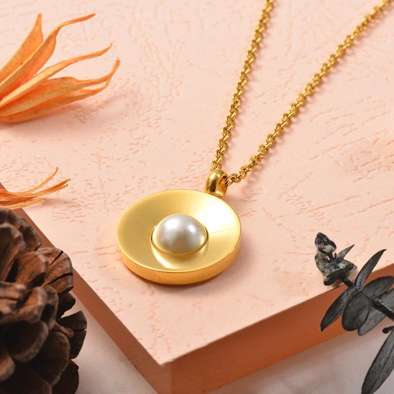Collares de Acero Inoxidable para Mujer -SSNEG129-25388