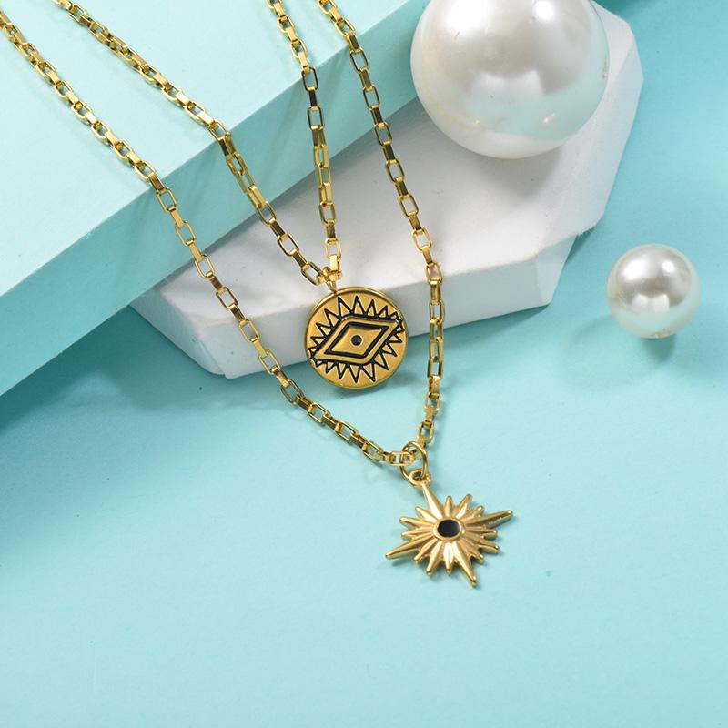 Collares de Acero Inoxidable para Mujer -SSNEG142-25438