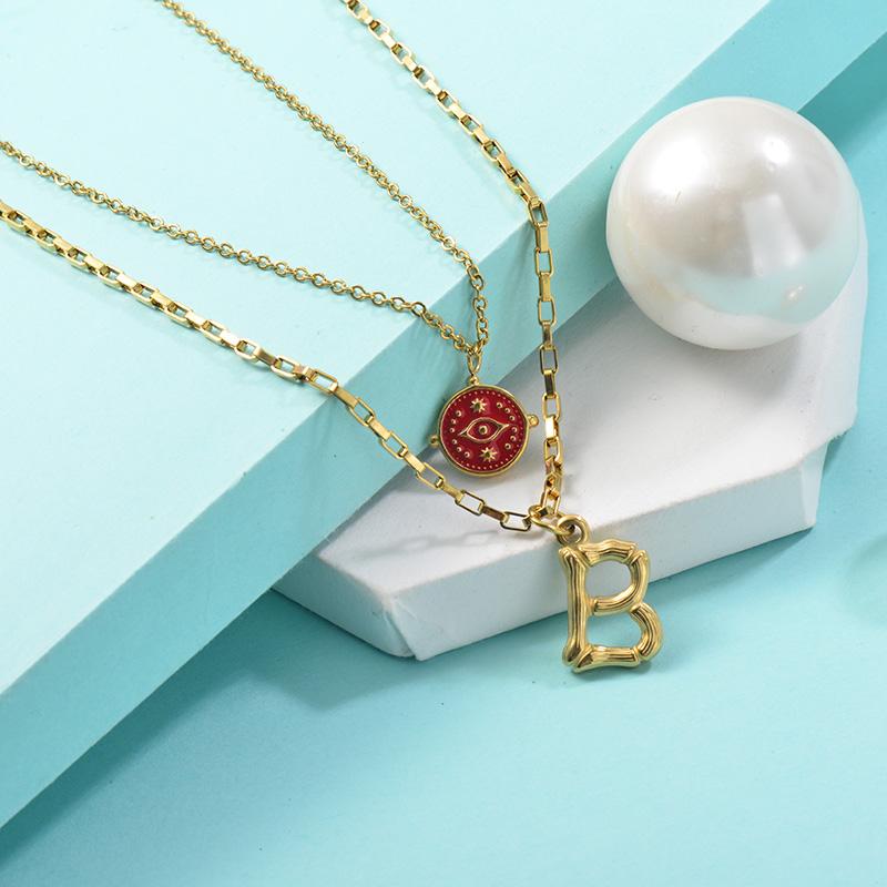 Collares de Acero Inoxidable para Mujer -SSNEG142-25460
