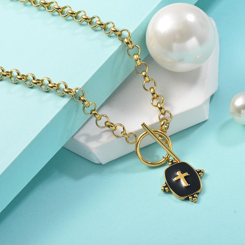 Collares de Acero Inoxidable para Mujer -SSNEG142-25452