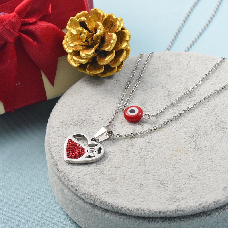 Collares de Acero Inoxidable para Mujer -SSNEG142-25511