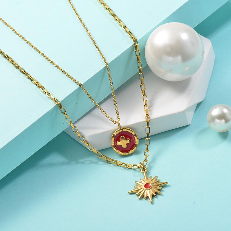 Collares de Acero Inoxidable para Mujer -SSNEG142-25440
