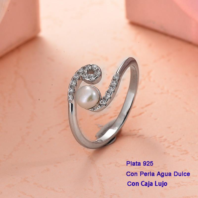 Anillos de Plata 925 con perla agua dulce -PLRGG191-25419