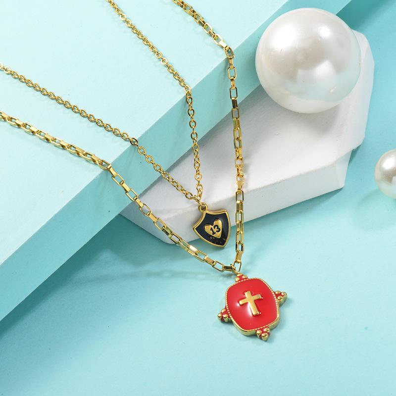 Collares de Acero Inoxidable para Mujer -SSNEG142-25444