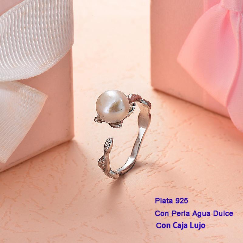 Anillos de Plata 925 con perla agua dulce -PLRGG191-25406
