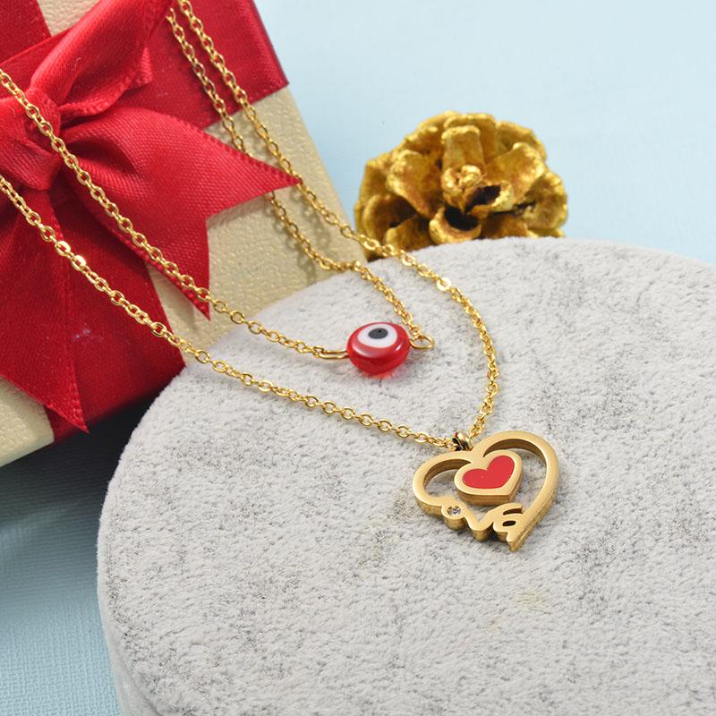 Collares de Acero Inoxidable para Mujer -SSNEG142-25519