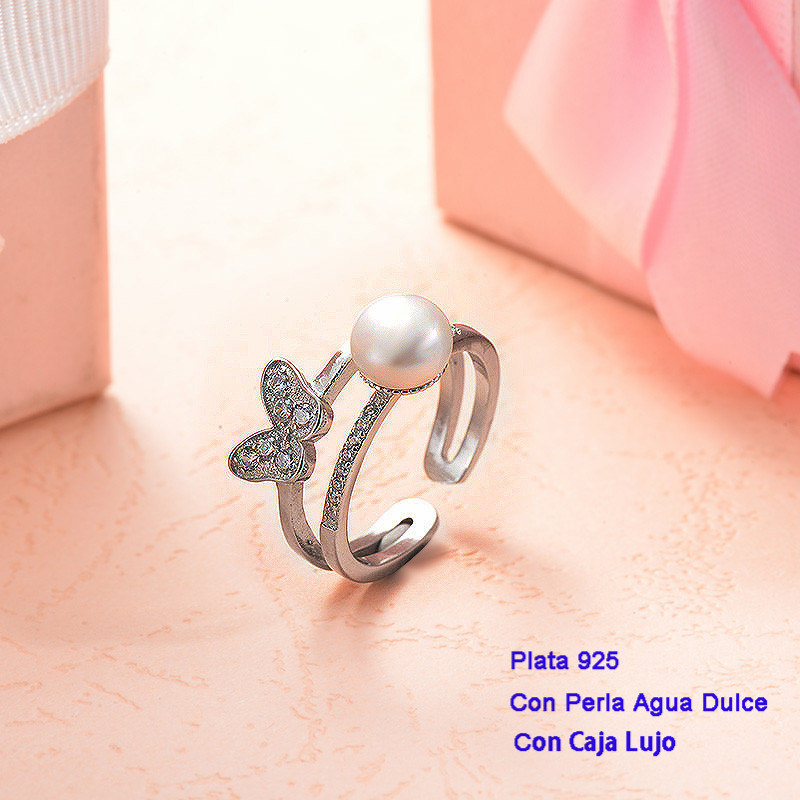 Anillos de Plata 925 con perla agua dulce -PLRGG191-25400