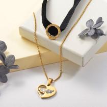 Collares de Acero Inoxidable para Mujer -SSNEG142-25505