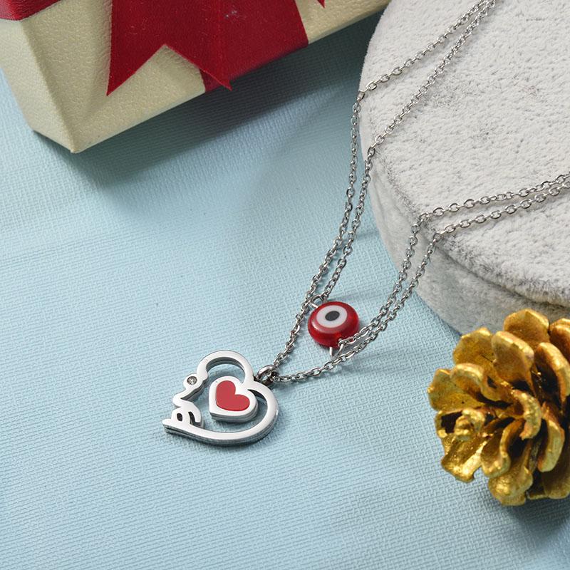Collares de Acero Inoxidable para Mujer -SSNEG142-25512