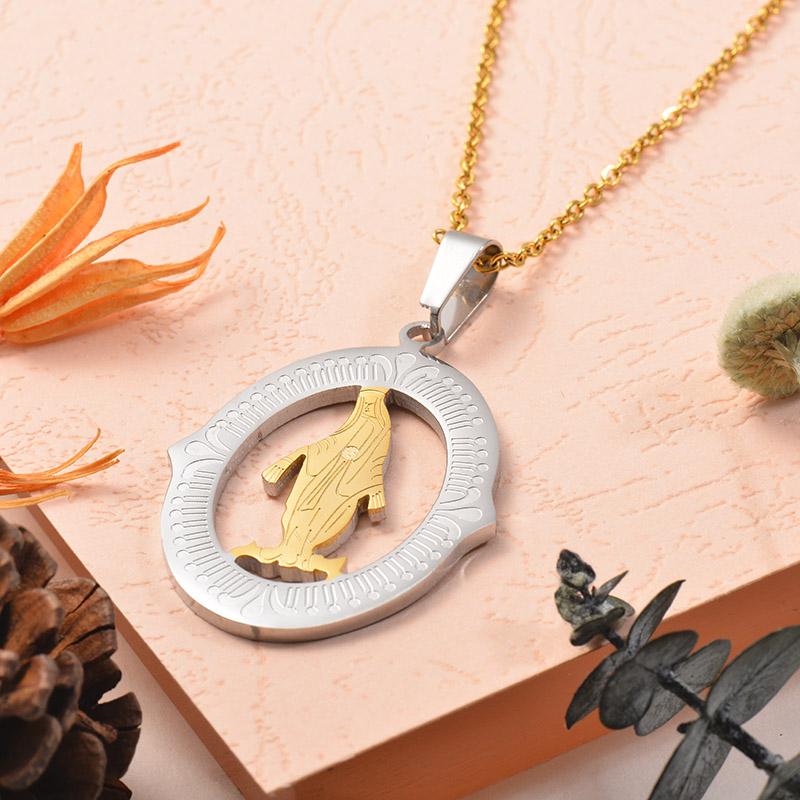 Collares de Acero Inoxidable para Mujer -SSNEG129-25389