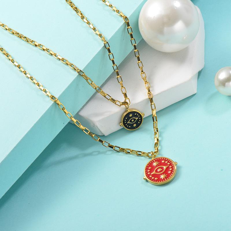 Collares de Acero Inoxidable para Mujer -SSNEG142-25443