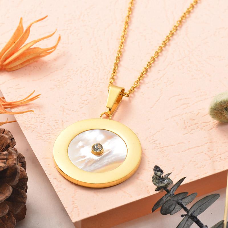 Collares de Acero Inoxidable para Mujer -SSNEG129-25377