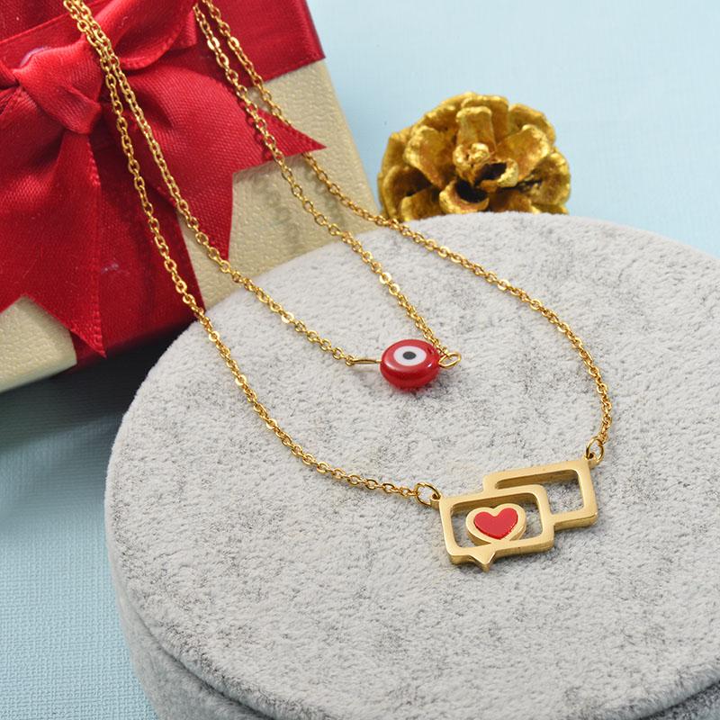 Collares de Acero Inoxidable para Mujer -SSNEG142-25520