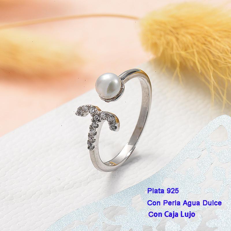 Anillos de Plata 925 con perla agua dulce -PLRGG191-25426