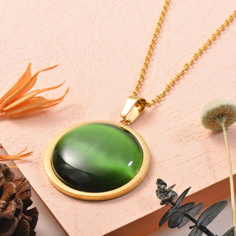 Collares de Acero Inoxidable para Mujer -SSNEG129-25385