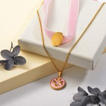 Collares de Acero Inoxidable para Mujer -SSNEG142-25502