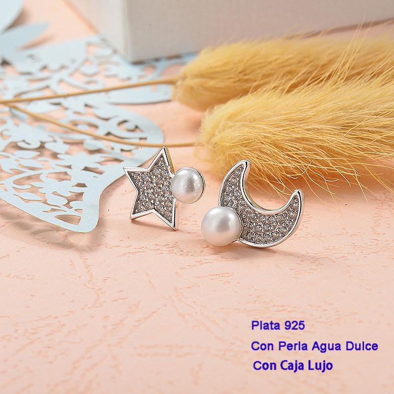 Aretes de Plata 925 con perla agua dulce -PLEGG191-25437