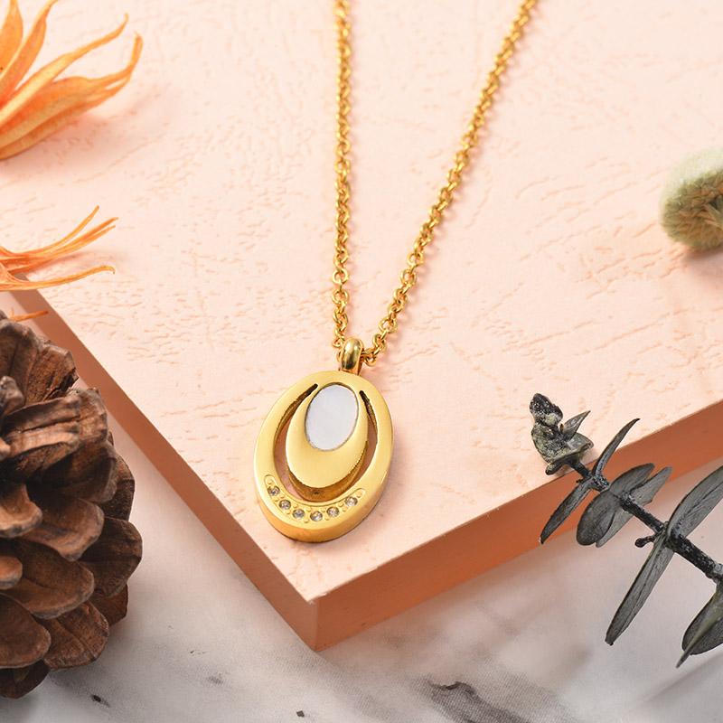 Collares de Acero Inoxidable para Mujer -SSNEG129-25375