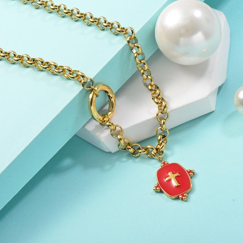 Collares de Acero Inoxidable para Mujer -SSNEG142-25451